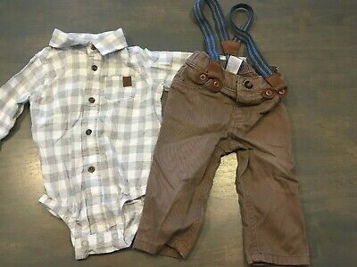 aee406040 Baby Boy Carter's Easter Dress Up Outfit with Suspenders Size 9 Months