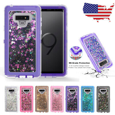 Quicksand Liquid Glitter Bling Case Cover For Samsung S10 S9 S8 S7 Plus Note 8 9