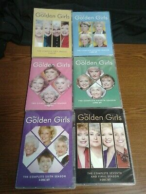 The Golden Girls -   Seasons 1, 2,3,4,6  & 7 DVD,  no season 5