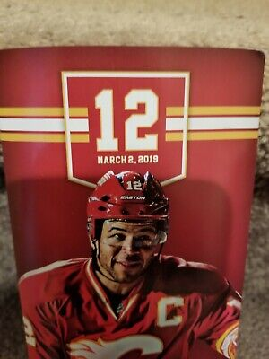 Jarome Iginla retirement ceremony Calgary flames game day brochure. march 2 2019
