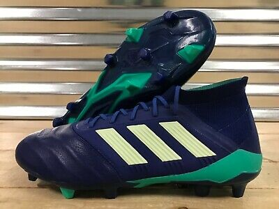 ADIDAS PREDATOR 18.1 FG Kangaroo Leather Soccer Cleats Blue Green SZ ( CP9256 )