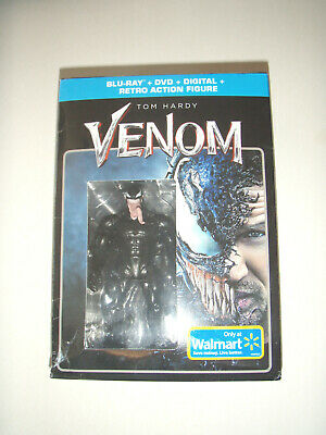 Venom Movie Blu-ray + DVD + Digital + Retro Action Figure Limited edition NIB