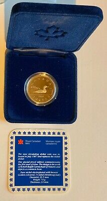 1987 Canada Genuine Loonie Proof $1 Coin First Year of Issue in Gift Box A