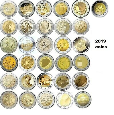 2 Euro monete commemorative 2019
