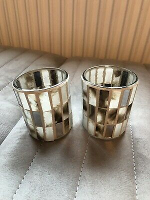 Glass Candle Holders Votive /  Small Mini Glass Vases, Craft
