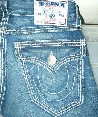 d6900aeb4  HOT 100% AUTHENTIC Men TRUE RELIGION   BILLY BOOTCUT Medium Denim Jeans 30  x
