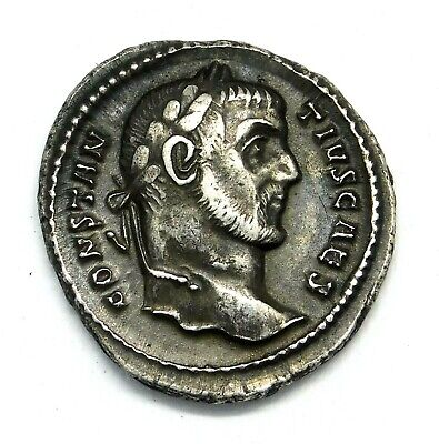 Constantius I. AR Argenteus. Father of Constantine the Great. Roman Silver Coin.