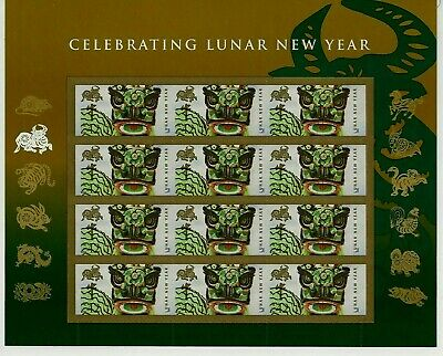 US CHINESE 2009 SCOTT #4375 LUNAR NEW YEAR OF THE OX 12 MINT FVF 42c STAMP SHEET