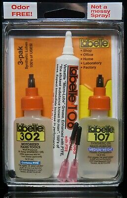 3-Best RC Model Syn Lubes in Workbench 3-pak ,100's of uses Labelle (1003)