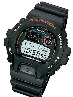 CASIO DW6900-1V Mens Classic Large GSHOCK Black Resin Digital Chrono Sport Watch