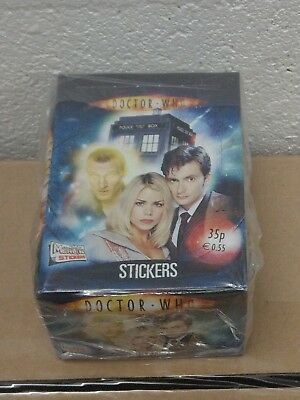 Rare Doctor Who Sealed Box 50 Packs Of Stickers 9th & 10th Dr Rose Topps Tardis
