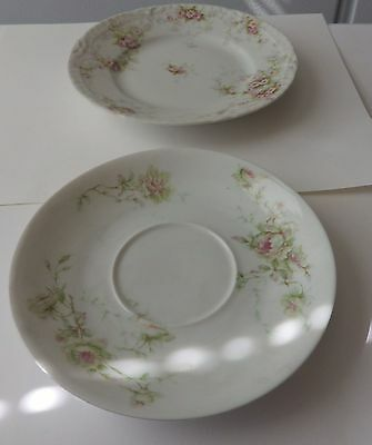 2 Antique Theodore Haviland Limoges France, Marked -1 saucer, 1sm plate Reduced!