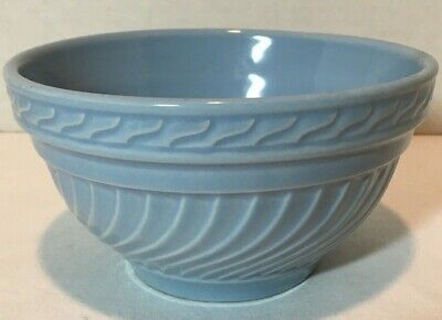 "Vintage Ceramic Blue Mixing Bowl, Small 5 3/4 "" Dia."