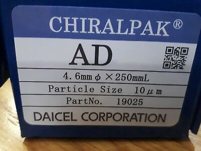 DAICEL CHIRALPAK 19025 AD Analytical HPLC Column 4.6mm, 250mm, 10µm (New Unused)