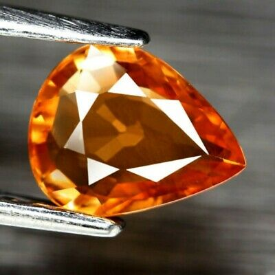 Aaa - Spessartite Garnet-Natural Spessartine Ct 1.30 If Pear Cut Origin Namibia