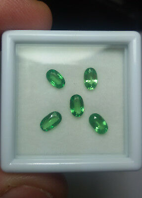Aaa - Natural Tsavorite Garnet Ct 1.26 - Vs - Top Green Oval Cut Origin Tanzania