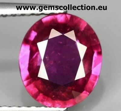 Aaa Rubino Naturale Certificato  Natural Ruby Certified Ct 1.91 Si Oval Cut Mada