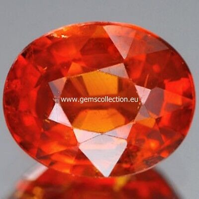 Aaa - Spessartite Garnet Ct 1.70 Oval Cut Origin Namibia Africa Very Good