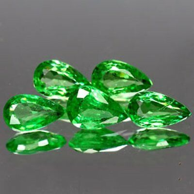 Aaa - Natural Tsavorite Garnet Ct 0.87 - Vs - Top Green Pear Cut Origin Tanzania