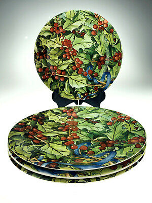Set of 4 Gien Le Houx Hollyberry Dessert Plates