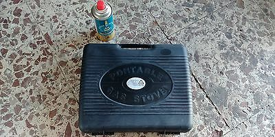 Fornello Barbecue Portatile CUBA + CARTUCCIA GAS Cartridge Butan Battery A4