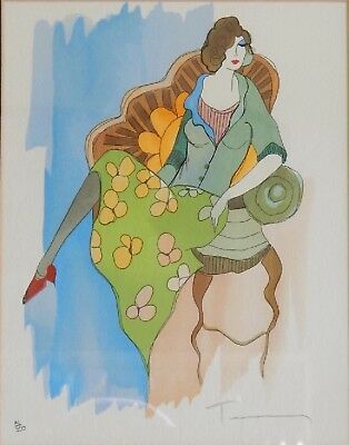 Framed Hand Signed Pencil Itzchak Tarkay Lithograph Limited Edition 81/350