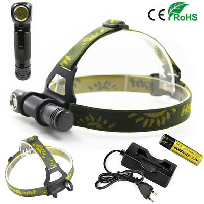 2in1 12000LM XPL V5 LED Flashlight Headlight Headlamp 18650 Torch Rechargeable