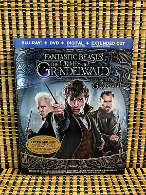 Fantastic Beasts 2: Crimes of Grindelwald (2-Disc Blu-ray/DVD, 2019)+Slipcover