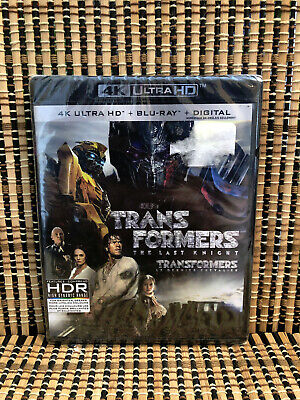 Transformers 5: The Last Knight 4K (3-Disc Blu-ray,2017)Mark Whalberg/Michael Ba