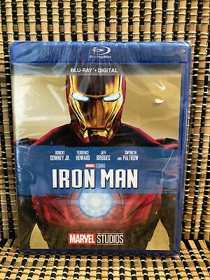 Iron Man (Blu-ray, 2017)Marvel Avenger.Robert Downey Jr/Jeff Bridges/Tony Stark