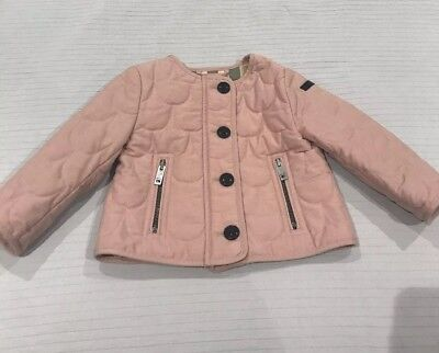 Baby Girl Burberry Quilted Lined Jacket