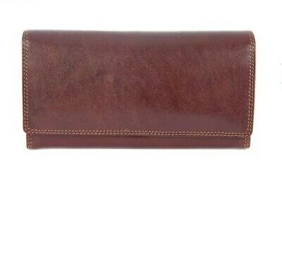 Visconti Ladies Purse Real Leather Florence Soft Brown Wallet Card Holder
