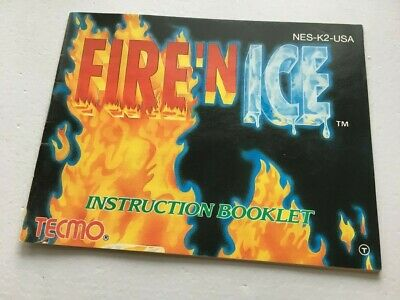 NINTENDO NES MANUAL FIRE N ICE and INSTRUCTIONS BOOK booklet NES HQ