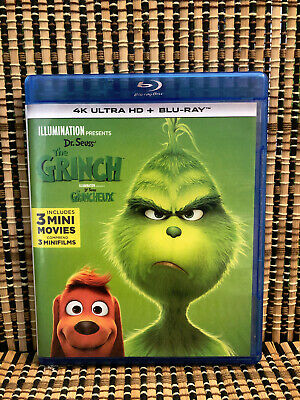 The Grinch (1-Disc Blu-ray, 2019)Dr. Seuss/How Stole Christmas/Cumberbatch
