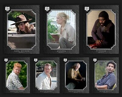 Prominent Portraits-Wave 2-Onyx-7 Card Set-Topps Walking Dead Card Trader