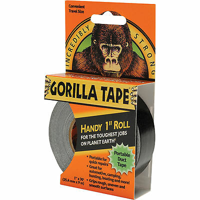 "Gorilla Tape Handy Roll - 1"" Wide X 9m Tape Strong Duck Tape by Gorilla Glue Blk"