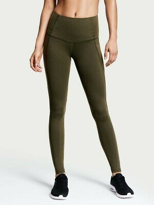 59448ba50fb38 SMALL Victoria's Secret Sport Knockout Tights Side Pocket High Rise Olive  Green