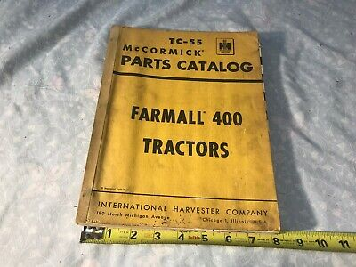 international mccormick tc-55 farmall 400 tractors parts catalog manual 1955