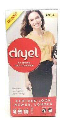 Dryel at Home Dry Cleaner Refill Kit 8 Loads - At home Dry Cleaner New