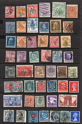 Perfins 49 Different Stamps