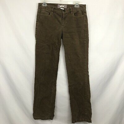 J Crew MatchStick Womens Size 28S Brown Straight Leg Cotton Corduroy Pants