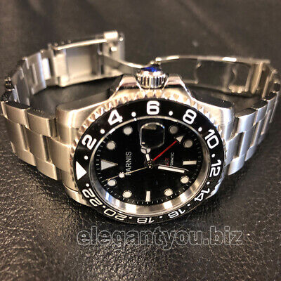39cebd4ff9d PREMIUM QUALITY 40.5MM GMT 2 Time Zones