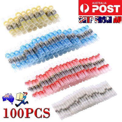 100PCS/50pcs 26-10 AWG Solder Sleeve Heat Shrink Butt Wire Splice Connector New