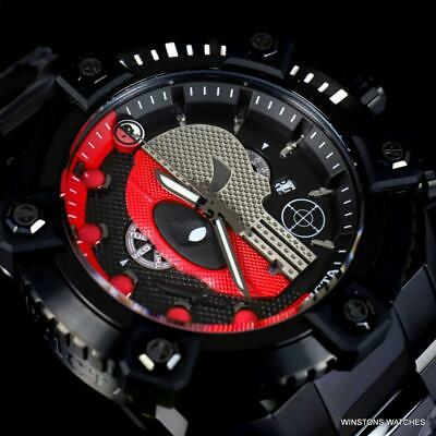 Invicta Reserve Grand Octane Marvel Punisher Deadpool Steel Swiss Watch New