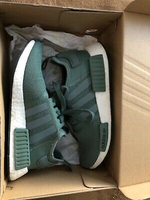 timeless design d0405 3f74e Adidas NMD R1 Trace Green Olive Cargo White Boost Shoes Nomad BY9692 Men Sz  6