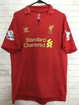 5c15afa63 Liverpool 2012 2013 Home Football Shirt Soccer Jersey Maglia 8 Gerrard  Warrior M