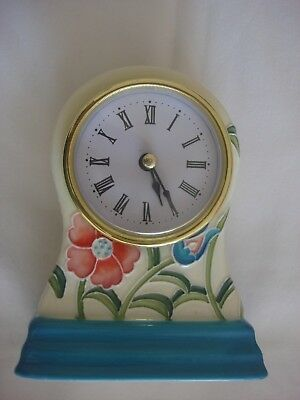 Old Tupton WARE TUBELINED PORCELAIN. FLORAL PATTERN CLOCK. 12cm Tall.. NEW.