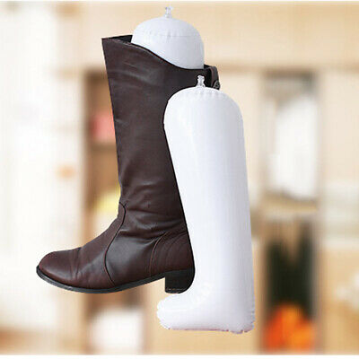 3 Pair Plastic Inflatable Long Boot Shoes Stand Holder Support Shaper Stretcher