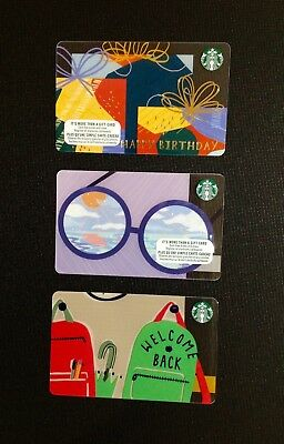 "CANADA STARBUCKS "" I ""marker GIFT CARD -- LOT OF 3 PCS. -- 100% AUTHENTIC -- NEW"