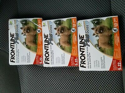 FRONTLINE 287010 Plusfor 5-22lbs Dogs - 3 Doses - FREE SHIPPING!! 3 PACK!